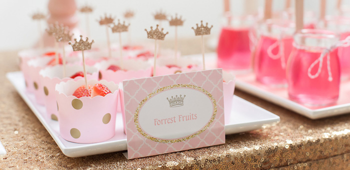 Karas Party Ideas Pink Gold Princess Birthday