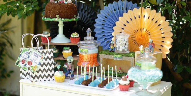 Plants vs. Zombies Themed Birthday Party via Kara's Party Ideas KarasPartyIdeas.com The Place for All Things Party! #plantsvszombies #plantsvszombiesparty #partyplanning (2)