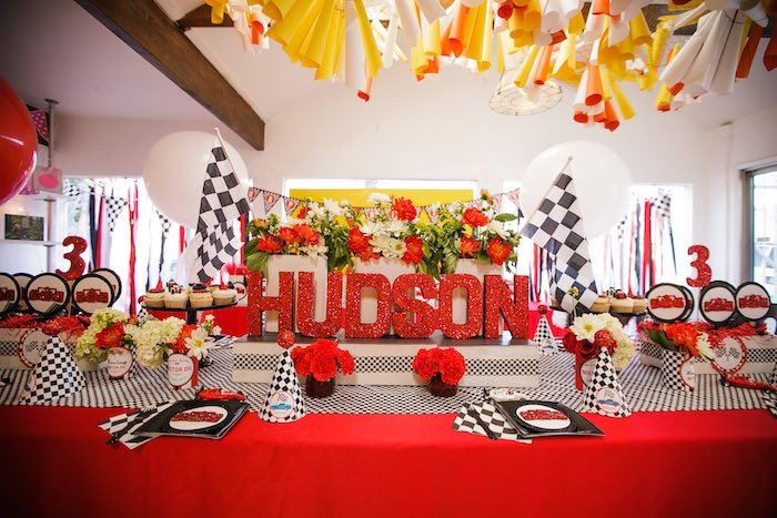 Karas Party Ideas Race Car Themed Birthday Via