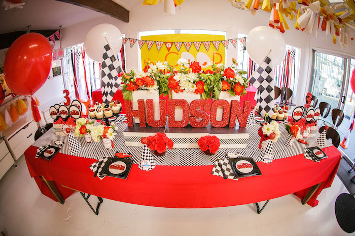 Race Car Themed Party Favors