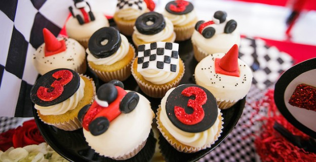 Race Car Themed Birthday Party via Kara's Party Ideas KarasPartyIdeas.com The one stop spot for party ideas, supplies, desserts, cake, food, recipes, favors, printables and more! #racecarparty #racingparty #racecarpartydesserts #carparty (2)