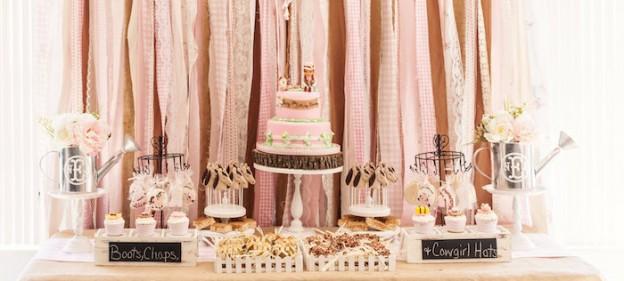 Shabby Chic Cowgirl Birthday Party Via Karas Ideas KarasPartyIdeas Cake Printables