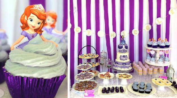 Sofia the First 5th Birthday Party via Kara's Party Ideas KarasPartyIdeas.com #sofiathefirstparty #sofiathefirst #disneyprincess #sofiathefirstcake #partyplanning #partydesign (1)