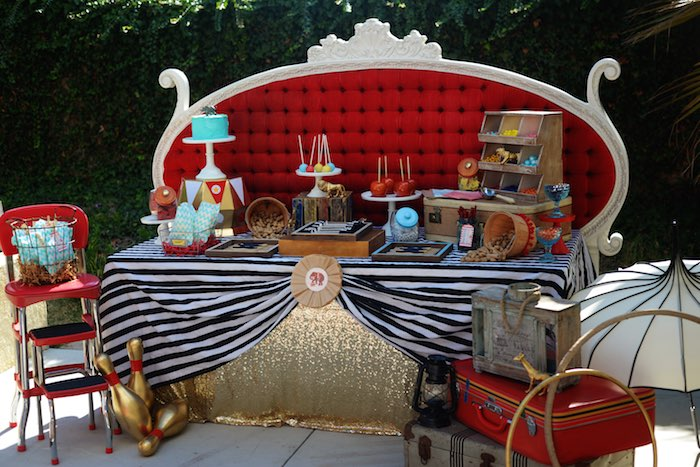 Kara S Party Ideas Vintage Circus Inspired Baby Shower