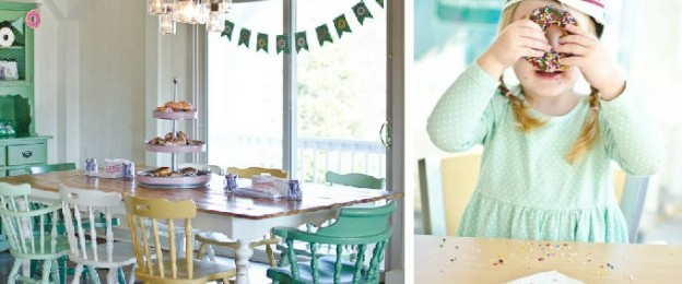 Vintage Donut Shop themed birthday party via Kara's Party Ideas KarasPartyIdeas.com