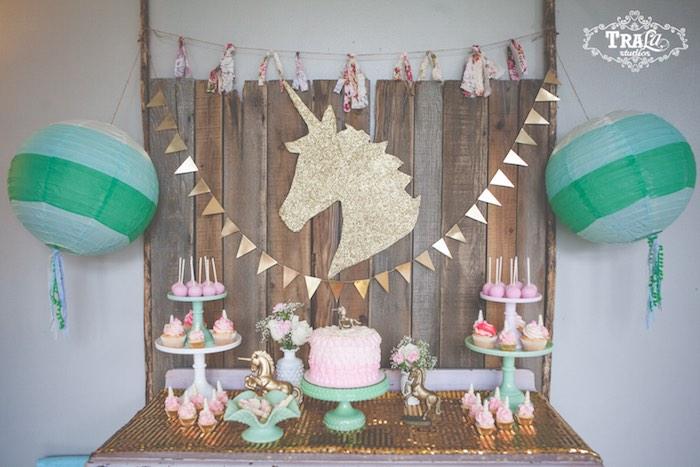 Kara S Party Ideas Vintage Unicorn Birthday Party Via Kara