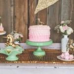 Vintage Unicorn themed birthday party via Kara's Party Ideas