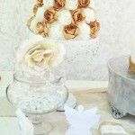 White + Gold Baptism Party via Kara's Party Ideas KarasPartyIdeas.com #baptism #baptismparty #baptismdesserttable (1)