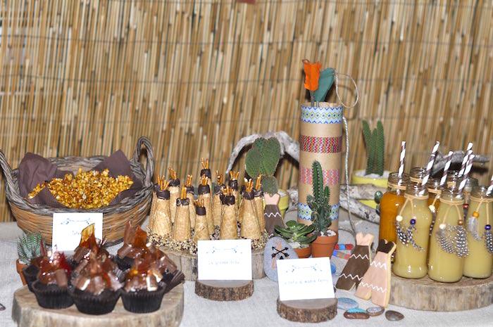 American Themed Dinner Party Ideas Part - 29: Little Indian Themed Birthday Party Via Karas Ideas KarasPartyIdeas  Tutorials Printables