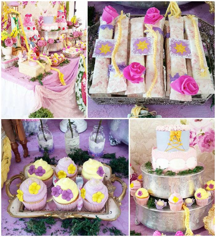 Party Ideas Rapunzel + Tangled Themed Birthday Party via KARAS PARTY ...