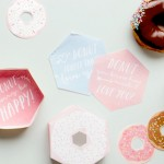 Adorable FREE printable doughnut boxes! Cute donut gift idea! Via Kara's Party Ideas | KarasPartyIdeas.com by tinyme! Doughnut party supplies, recipes, party planning ideas and more!