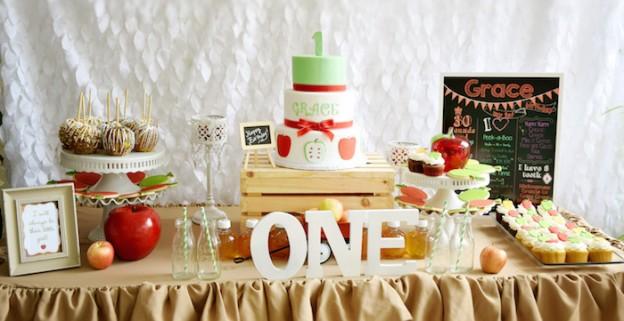 Apple of My Eye themed birthday party via Kara's Party Ideas KarasPartyIdeas.com #appleofmyeye (1)