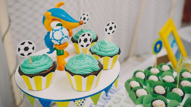 Brazil World Cup Soccer themed birthday party via Kara's Party Ideas KarasPartyIdeas.com #worldcupsoccerparty (1)
