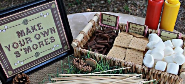 Camping themed birthday party via Kara's Party Ideas KarasPartyIdeas.com The Place for All Things Party! #campingparty (1)