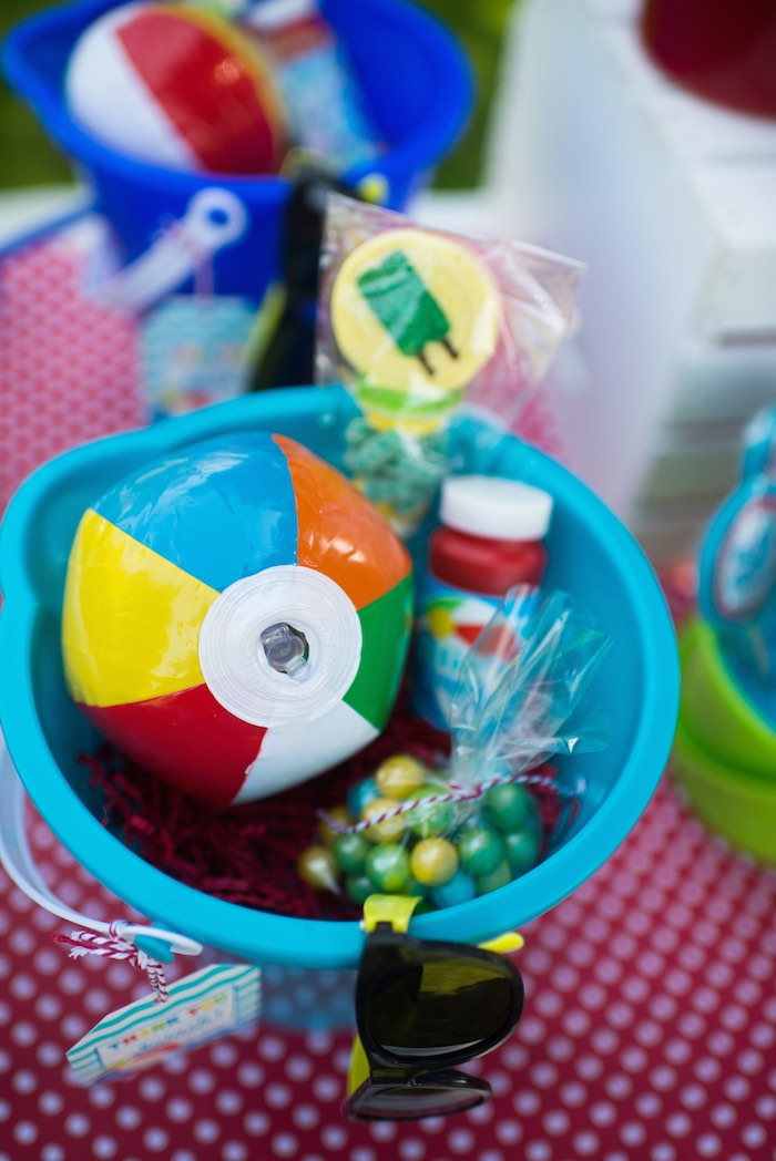 Kara S Party Ideas Colorful Pool Themed Birthday Party Via