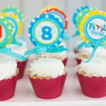 Colorful Pool themed birthday party via Kara's Party Ideas KarasPartyIdeas.com #lpoolparty (1)