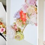 DIY Springtime in Paris Gold Leaf and Floral Wall Hanging Canvas via Kara's Party Ideas | Kara Allen | KarasPartyIdeas.com #MichaelsMakers