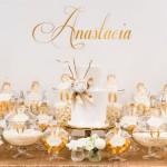 Elegant Gold + White Baptism Party via Kara's Party Ideas KarasPartyIdeas.com #goldandwhitebaptismdesserttable (1)