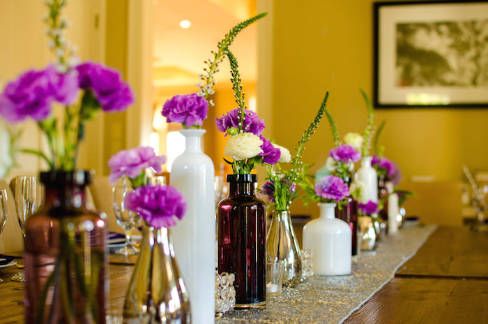 Kara S Party Ideas Elegant Purple Amp Silver Bridal Shower Via Kara S Party Ideas Karaspartyideas