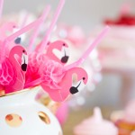 Flamingo themed birthday party via Kara's Party Ideas KarasPartyIdeas.com #flamingoparty (1)