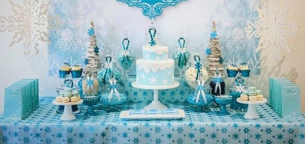 Kara 39 s party ideas winter frozen party archives kara 39 s for 5th birthday decoration ideas