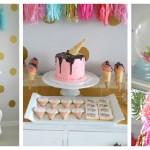 Glamorous Ice Cream Party via Kara's Party Ideas KarasPartyIdeas.com | Cake, decor, printables, tutorials, and more! #glamorousicecreamparty (2)