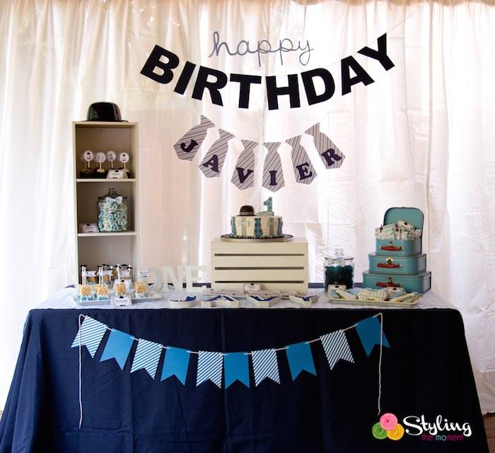 Karas Party Ideas Little Man Themed Birthday Party