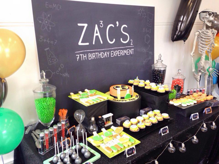 Mad Science Themed Birthday Party Via Karas Ideas KarasPartyIdeas Madscienceparty 23