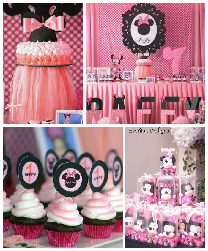 Kara 39 s party ideas minnie mouse themed birthday party for Baby minnie mouse party decoration ideas