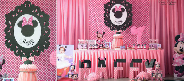 Karas Party Ideas Minnie Mouse Birthday Party