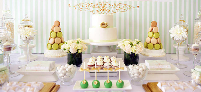 Karas Party Ideas Mint Green Gold Baby Shower Karas Party Ideas