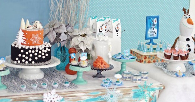 Olaf Frozen themed birthday party via Kara's Party Ideas KarasPartyIdeas.com #olafparty (1)