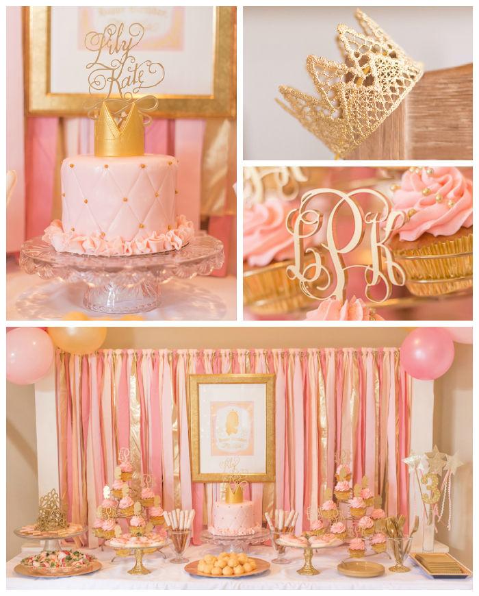Kara S Party Ideas Royal Princess First Birthday Party: Kara's Party Ideas Pink & Gold Princess Themed Birthday