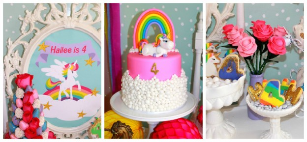 Rainbow Unicorn themed birthday party via Kara's Party Ideas KarasPartyIdeas.com | Printables, banners, supplies, tutorials, food, desserts and more! #rainbowunicornparty (1)