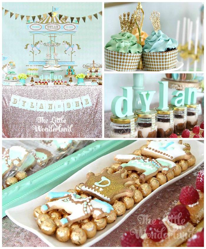 Royal Carousel Themed 1st Birthday Party Via Karas Ideas