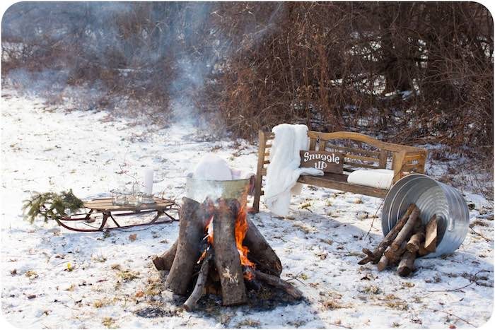 Party Ideas Rustic Winter Wonderland Outdoor Party via KARAS PARTY