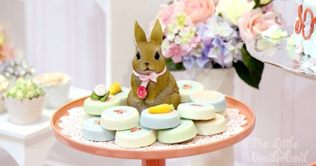 Shabby Chic Bunny Birthday Party via Kara's Party Ideas KarasPartyIdeas.com #bunnyparty (2)