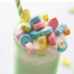 Shamrock Lucky Shake Recipe on Kara's Party Ideas by Coupons.com! KarasPartyIdeas.com | St Patrick's Day Party Ideas 2