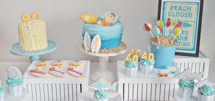 Kara S Party Ideas Surf Surfing Themed 40th Birthday