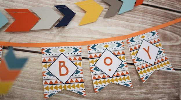 Tribal Little Brave Man themed baby shower via Kara's Party Ideas KarasPartyIdeas.com #tribalbabyshower (1)