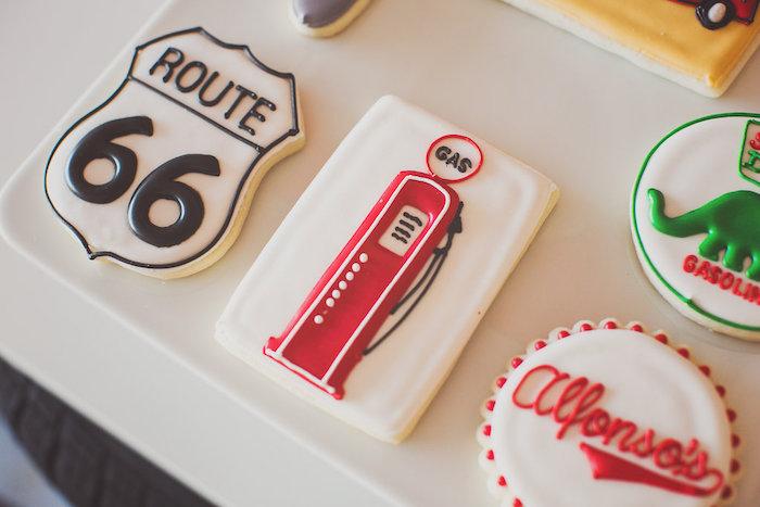 Karas Party Ideas Vintage Chevy Auto Garage Themed Birthday