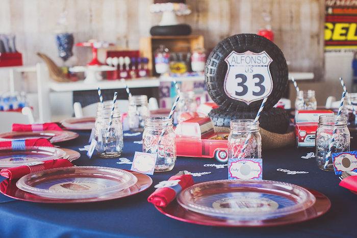 Kara S Party Ideas 187 Vintage Chevy Auto Garage Themed