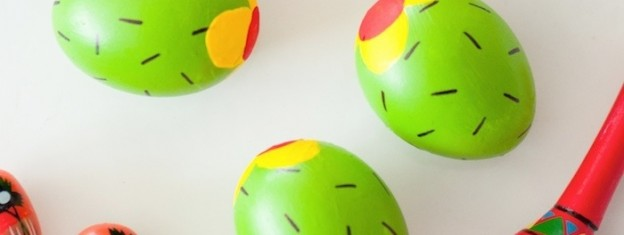 Cactus Easter Eggs tutorial via Kara Allen | KarasPartyIdeas.com | Kara's Party Ideas! Cute painted eggs!_-31