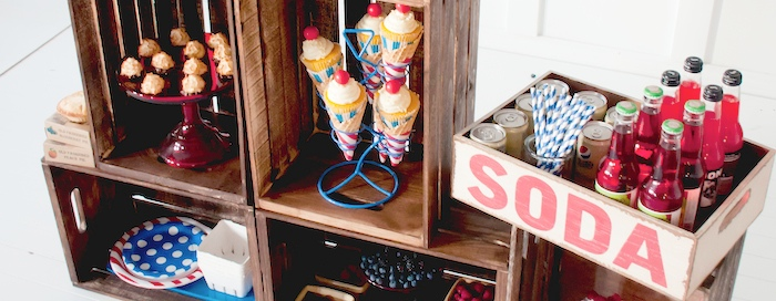 Kara S Party Ideas Celebrate America Summer Treat Stand