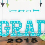 Celebrate Grad Follow Your Dreams Arrow Dreamcatcher Graduation Party via Kara Allen | Kara's Party Ideas | KarasPartyIdeas.com #michaelsmakers