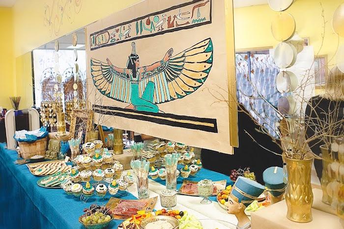 Cleopatra Egyptian Themed Birthday Party Via Kara S Ideas Karaspartyideas Com Egyptianparty Eqyptian Wedding