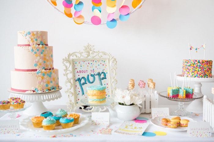 Confetti Sprinkles Baby Shower Via Karas Party Ideas KarasPartyIdeas
