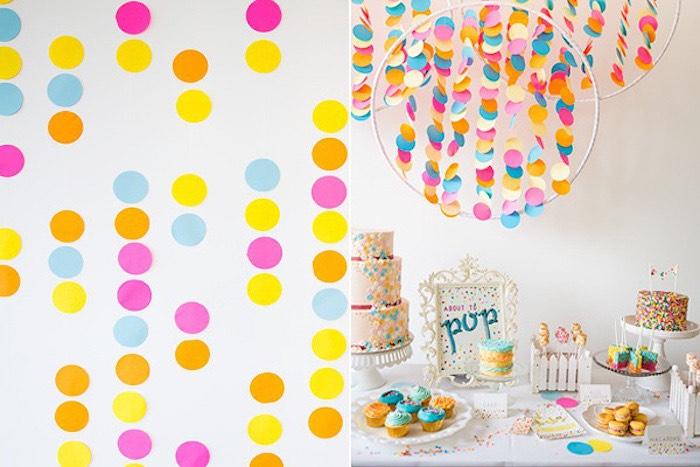 Confetti U0026 Sprinkles Baby Shower Via Karau0027s Party Ideas KarasPartyIdeas.com  | Cakes, Decor