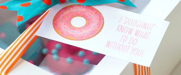 DIY Teacher + Friend Gift Idea | Homemade Donuts- I Doughnut know what I would do without you! Kara Allen | KarasPartyIdeas.com | Kara's Party Ideas #michaelsmakers