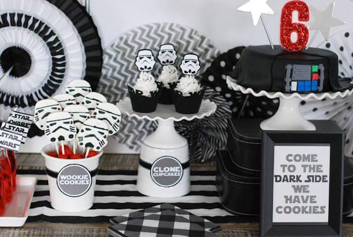 Kara S Party Ideas Darth Vader Themed Birthday Party Via